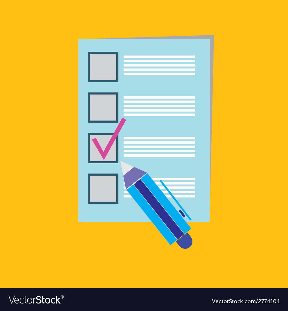 Clipboard with check boxes and pen vector image