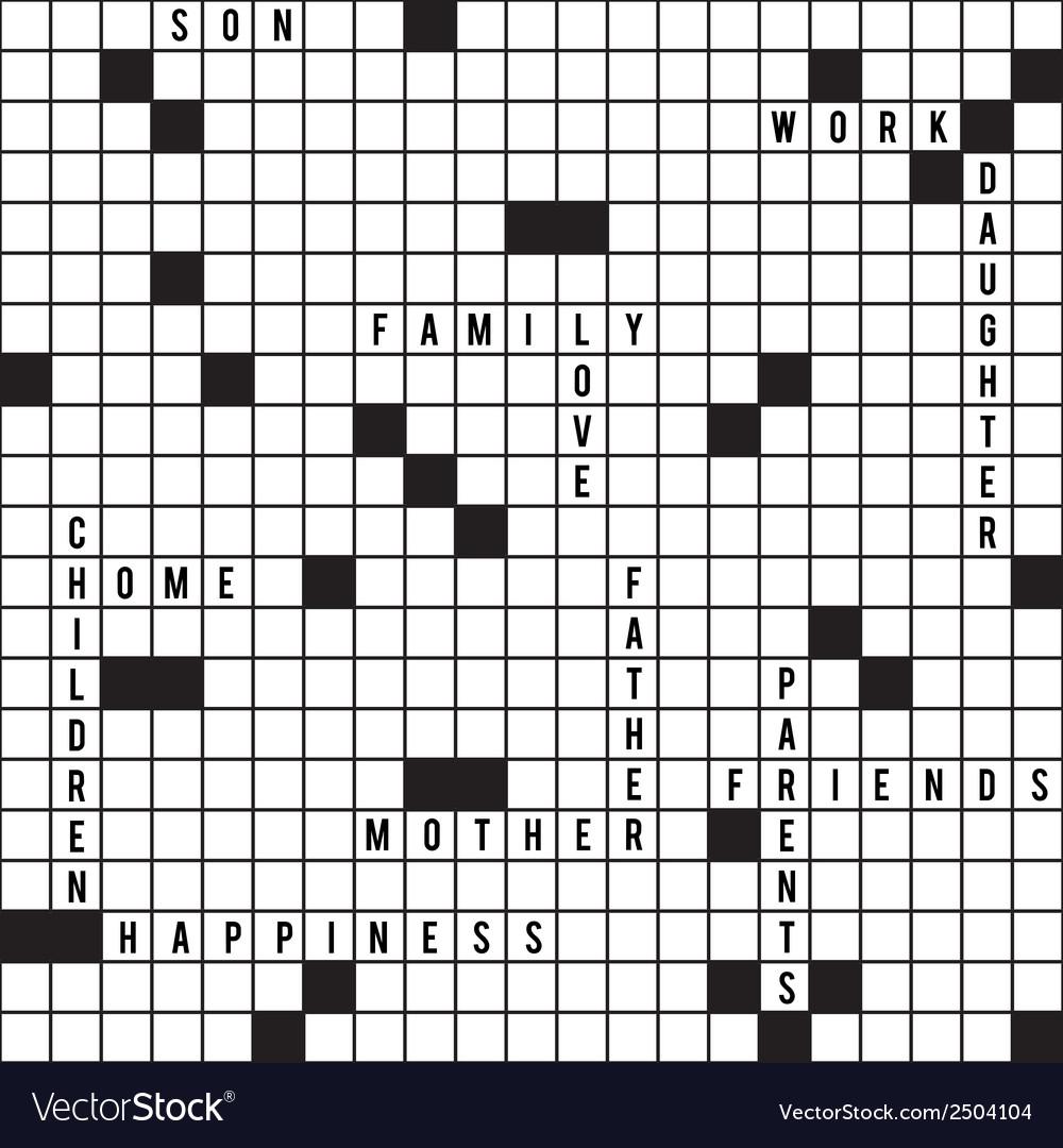 Crossword seamless pattern
