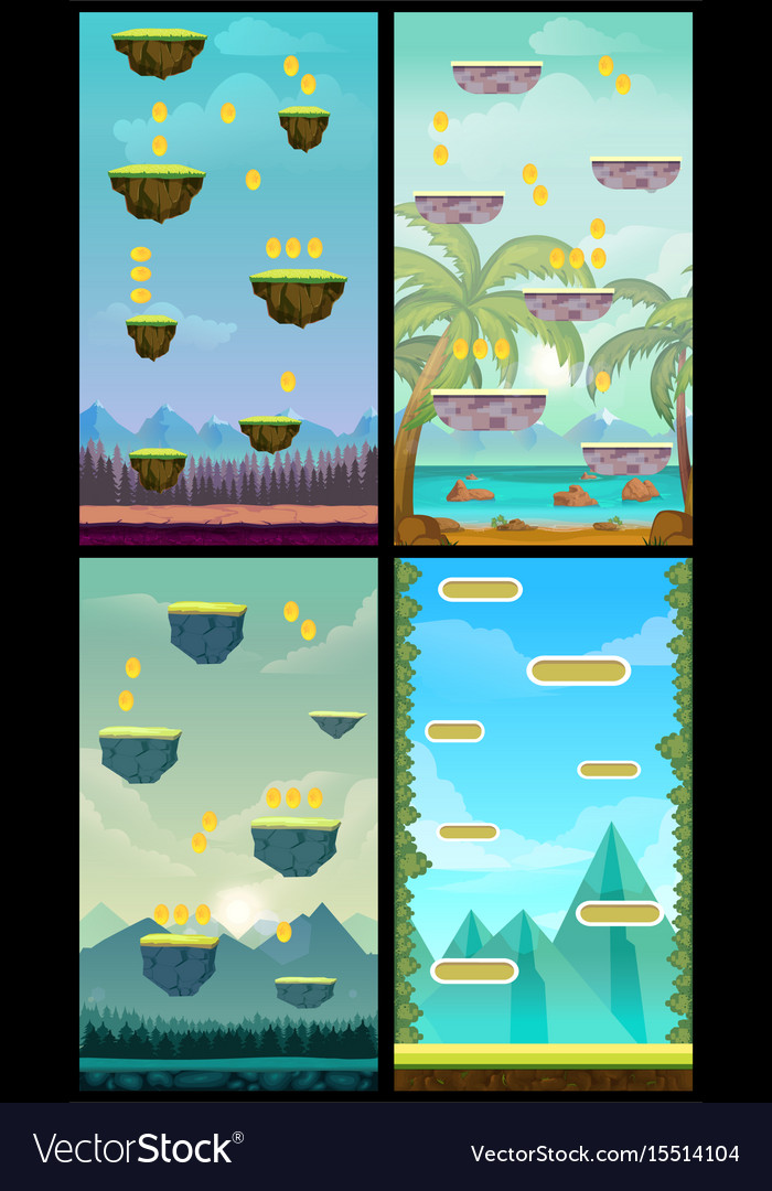 Game background vertical tileable wallpaper for