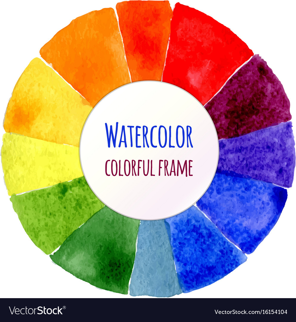 Handmade color wheel isolated watercolor spectrum