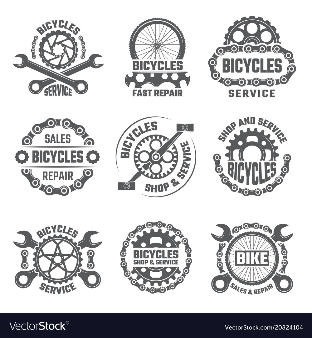 labels template design with gears chains and vector image