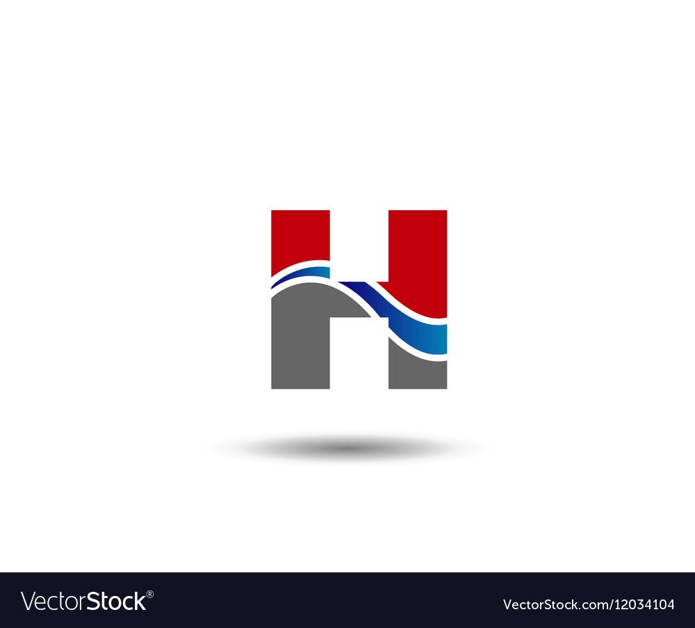 Logo H Letter company design template