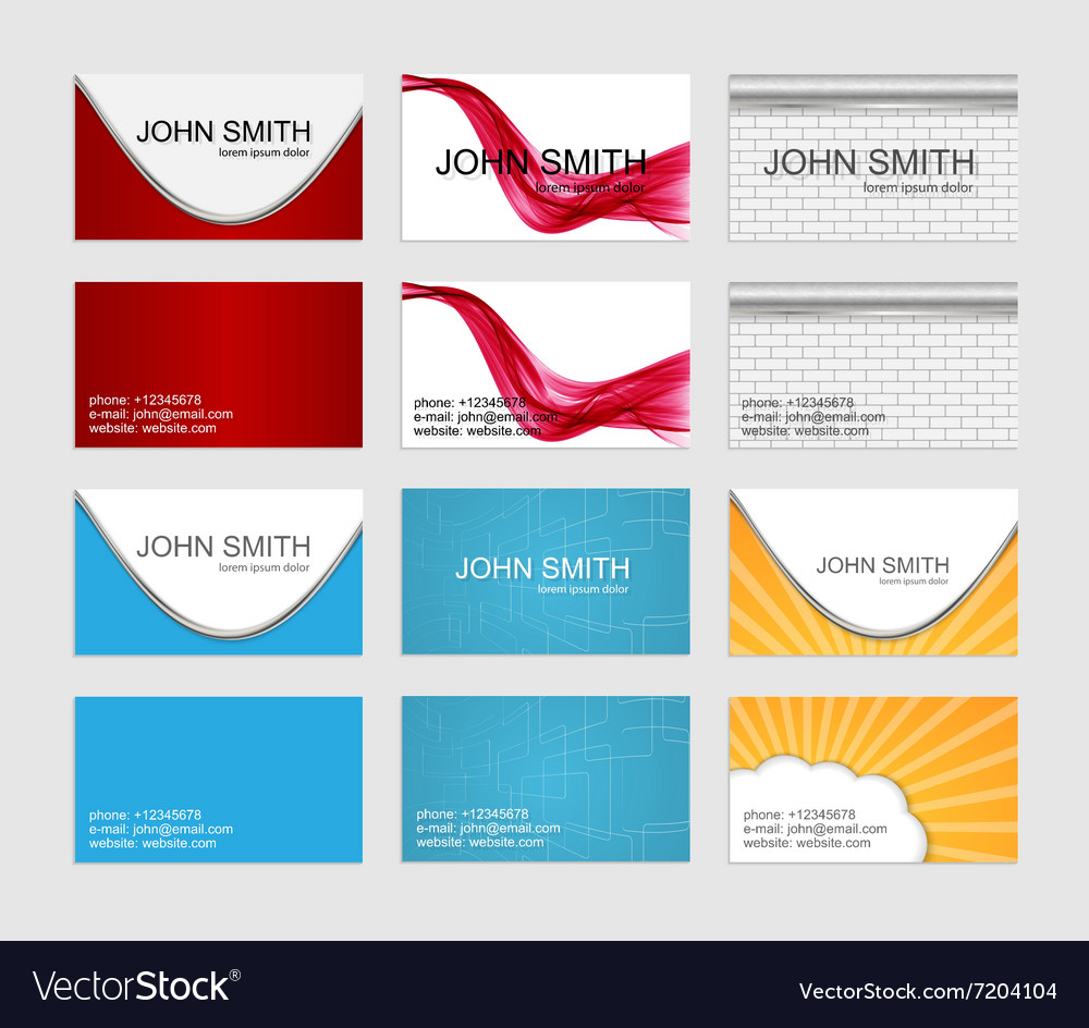 Modern simple business cards template set