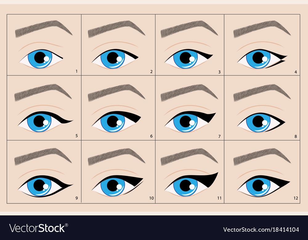 Types Permanent Makeup Eyeliner Arrow