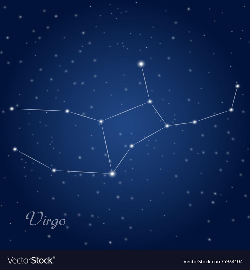 Virgo constellation zodiac Royalty Free Vector Image