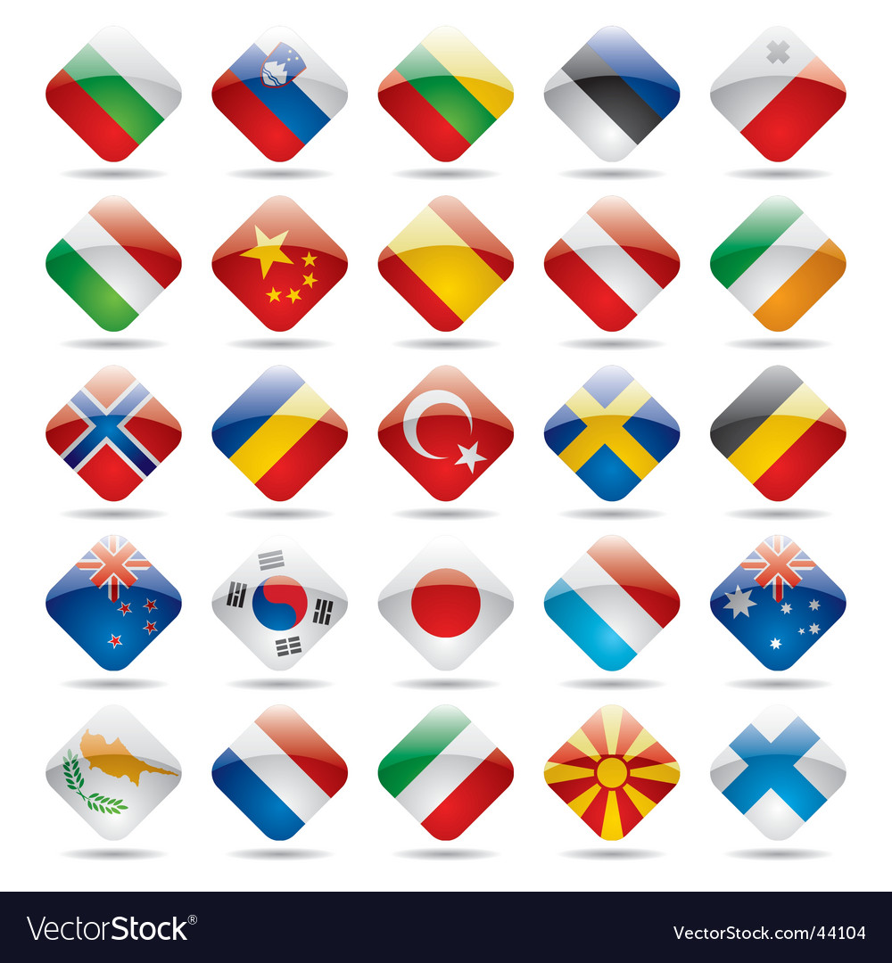 china flag icon. World Flag Icons Vector