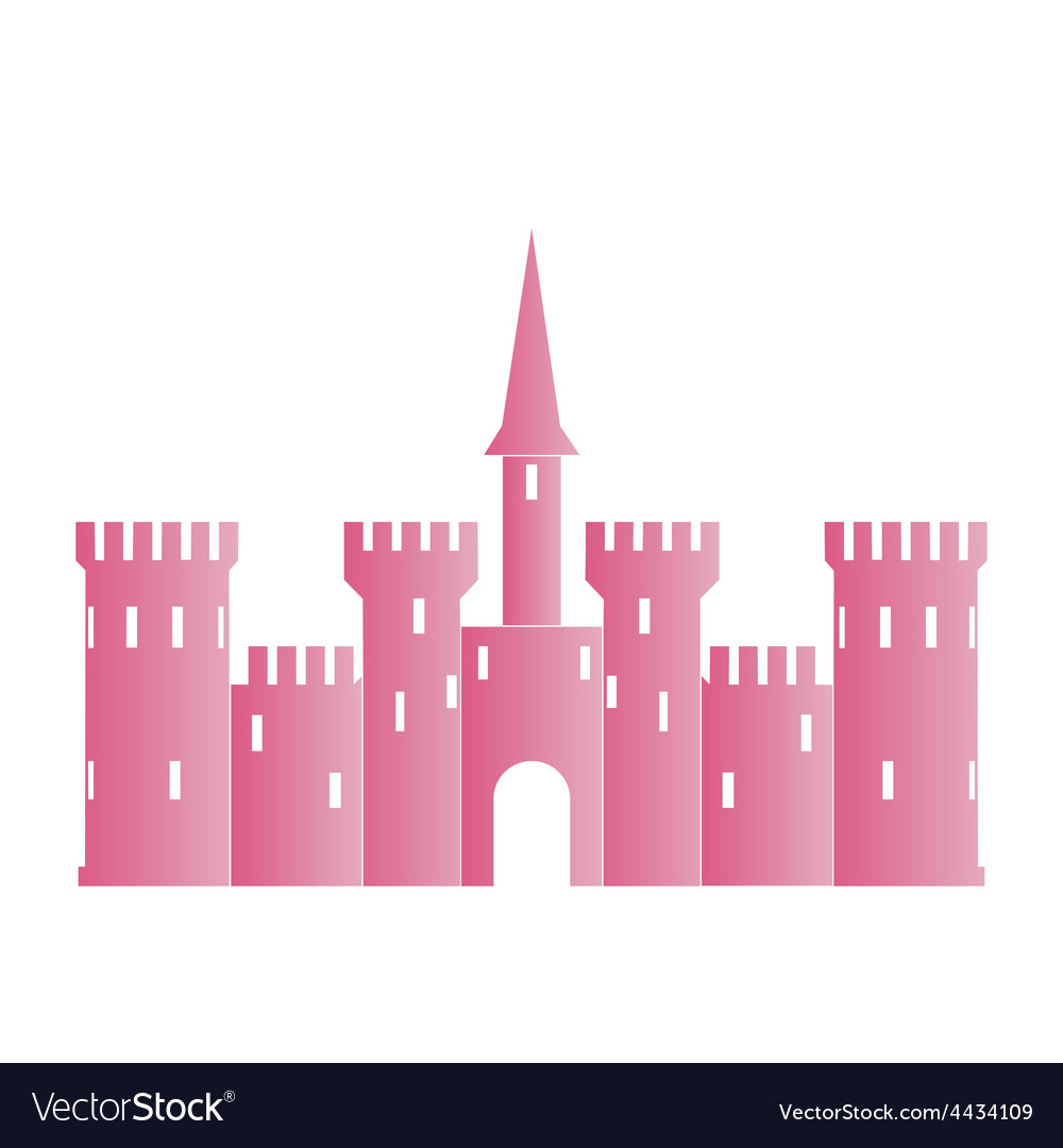 Abstract castle logo template