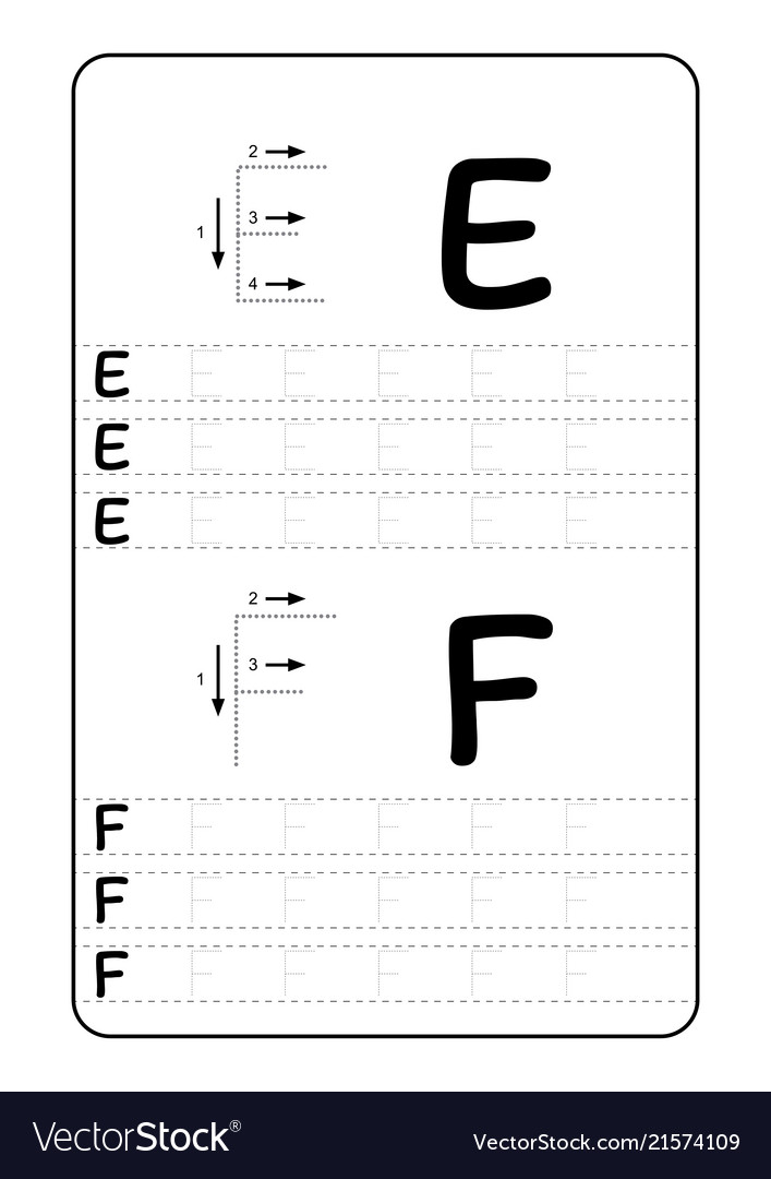Alphabet letters tracing worksheet with alphabet