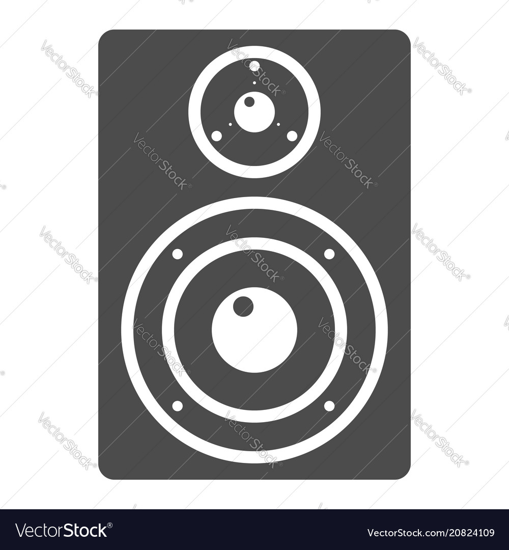 Audio monitor glyph icon music and instrument