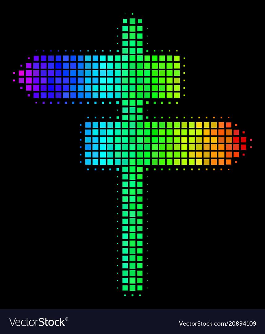 Bright dot road pointer icon