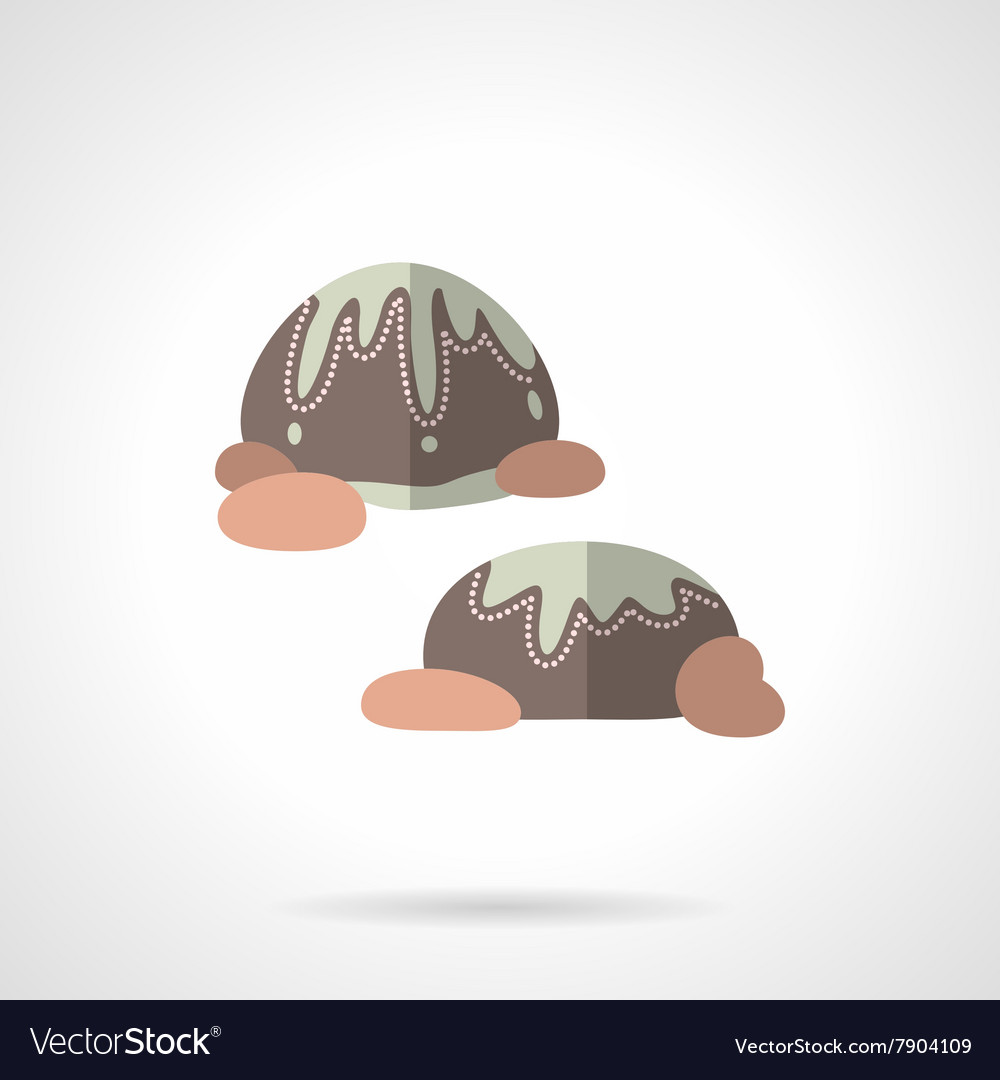 Chocolates flat color design icon vector image
