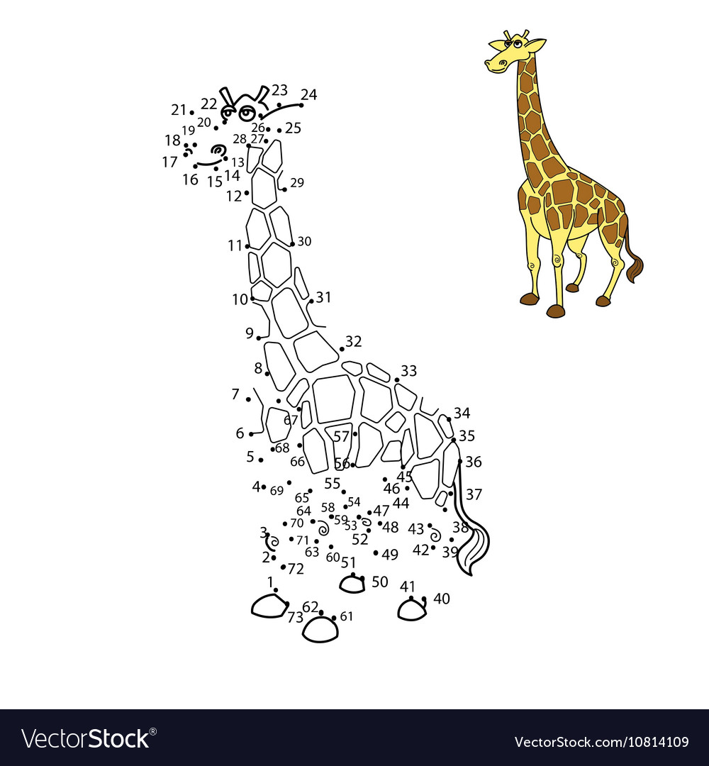 Connect the dots to draw animal Royalty Free Vector Image