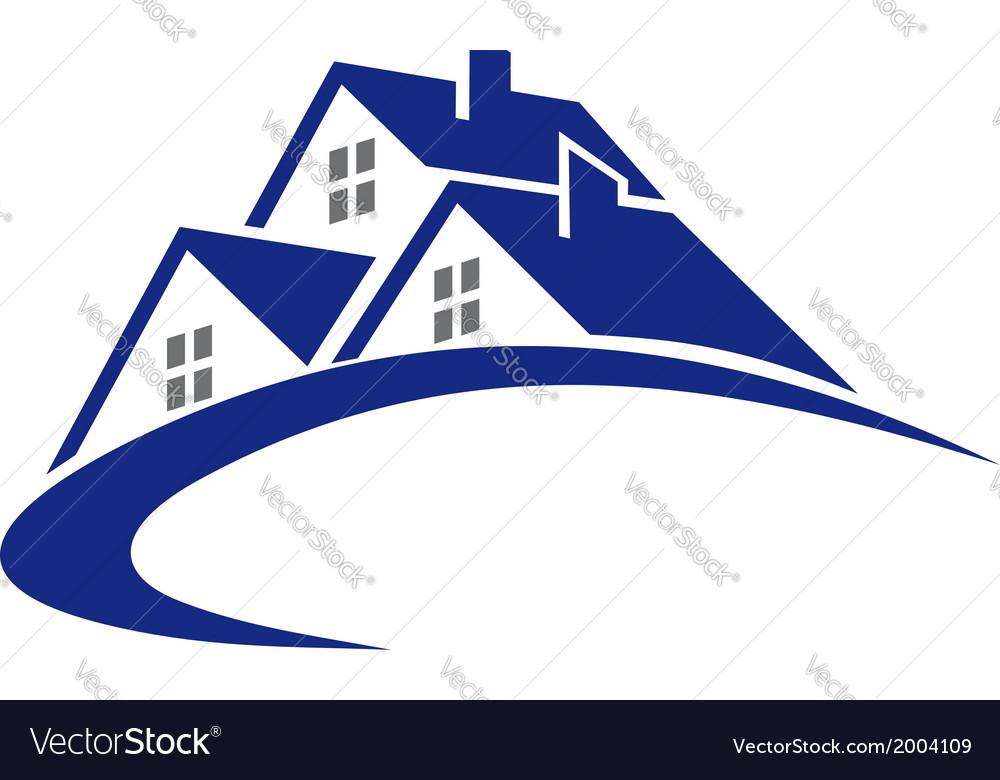 Modern cottage or house symbol vector image