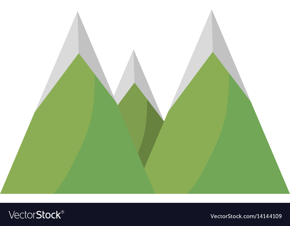 Mountains peak nature image vector image