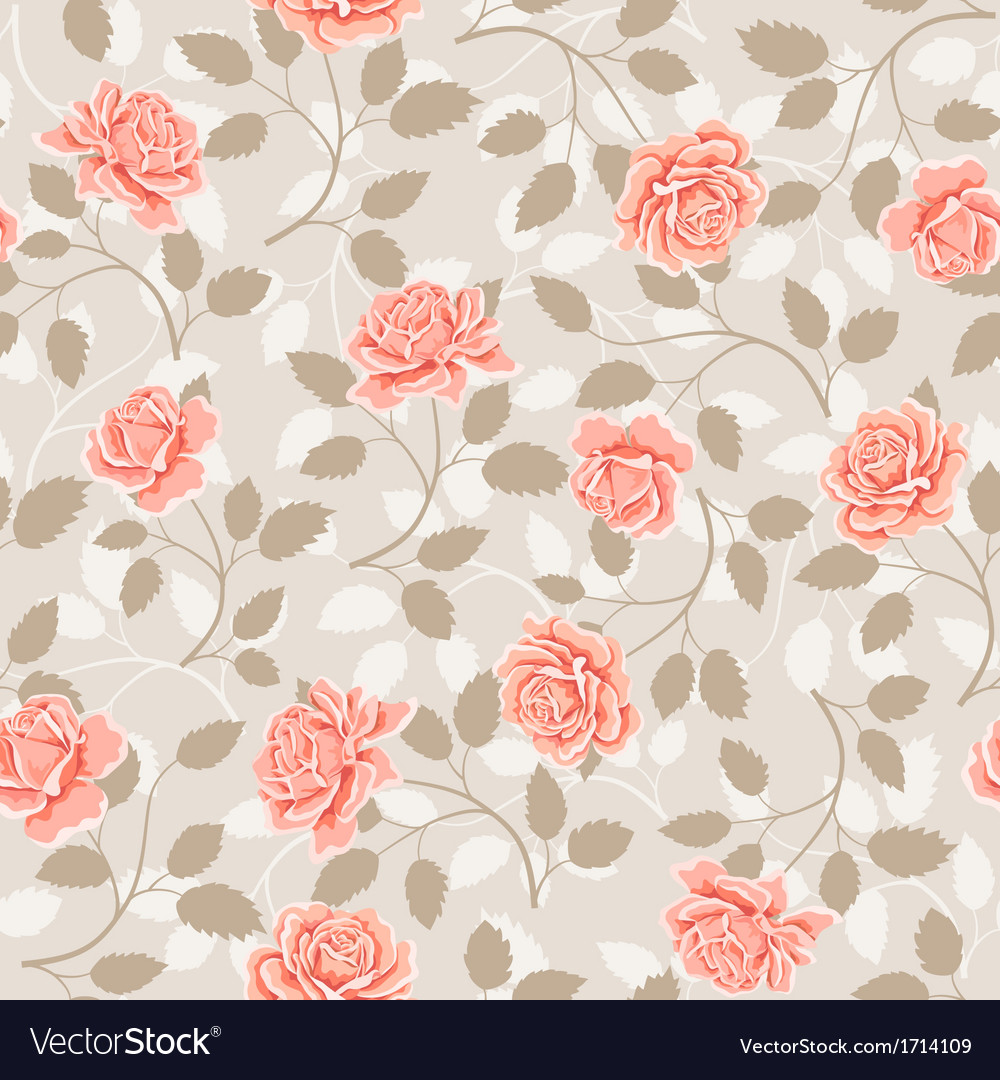 Vintage Pink And Cream Rose Pattern Digital Art by Debra ... |Vintage Floral Rose Pattern