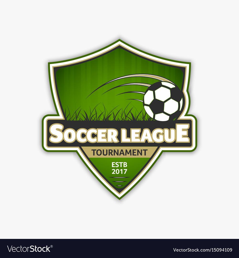 Soccer logo template football logotype emblem vector image