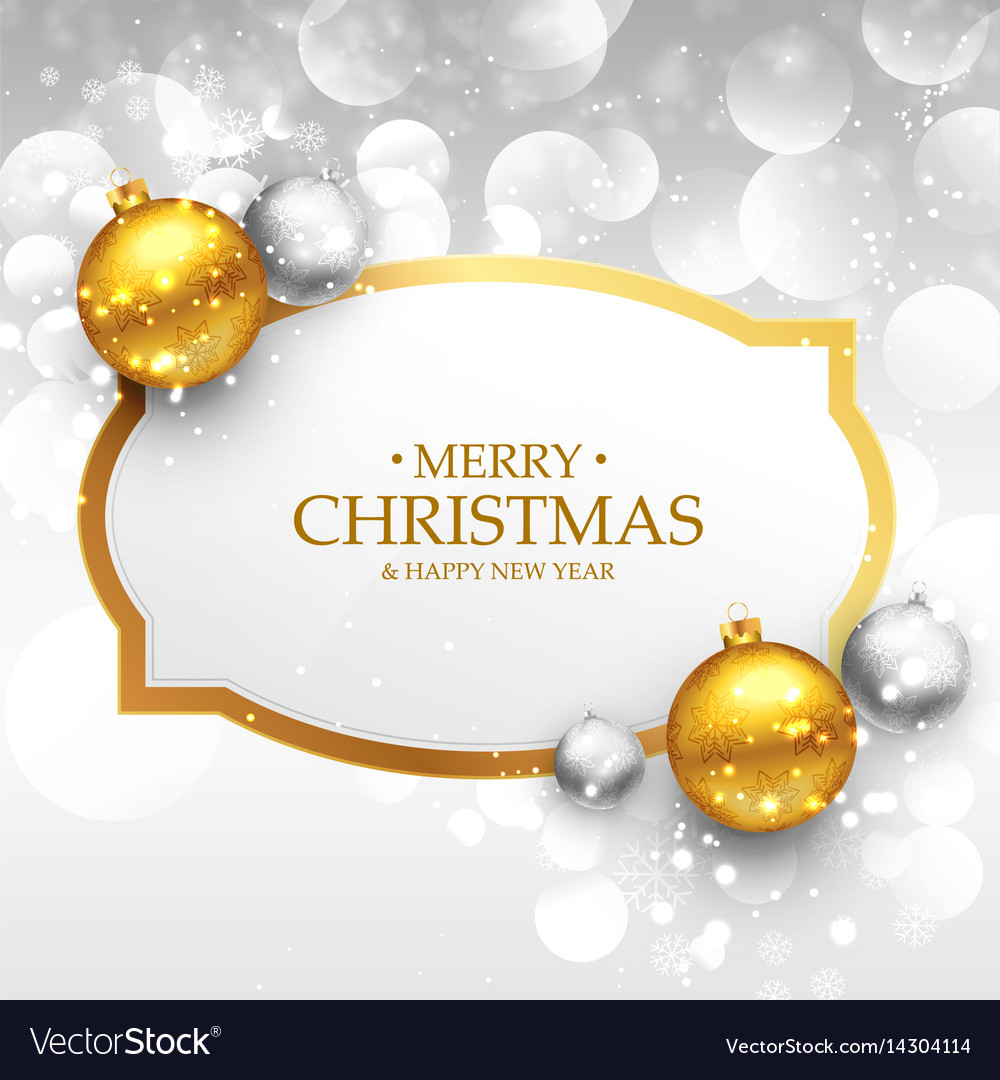 Beautiful Merry Christmas Greeting Design With