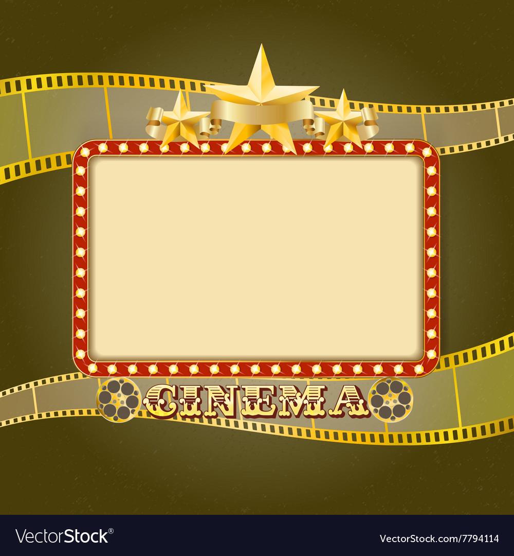 Cinema banner Retro vector image