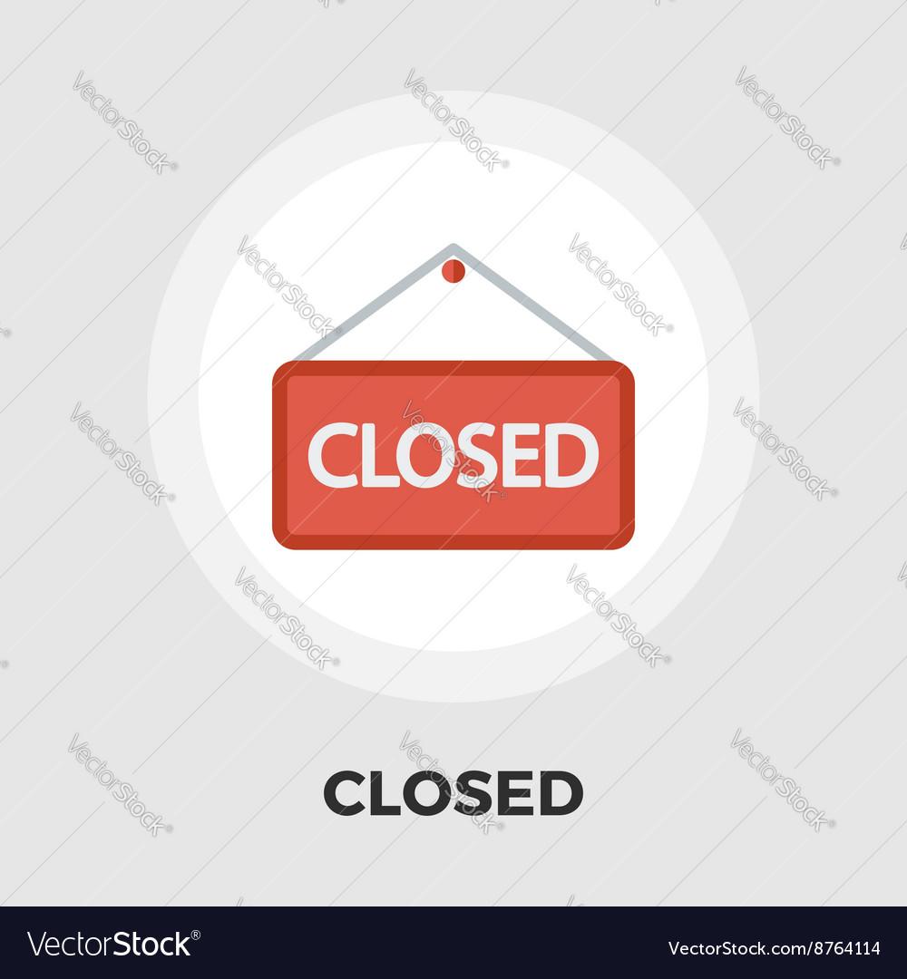 Closed flat icon