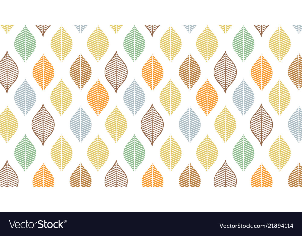 Cute autumn leaf pattern abstract banner