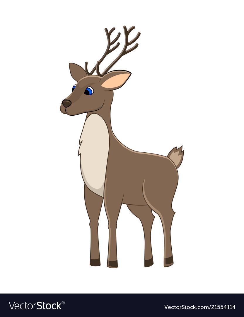 Cute cartoon reindeer arctic animal