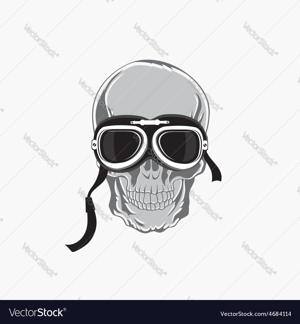 Dead biker graphic print Motocycle helmet and