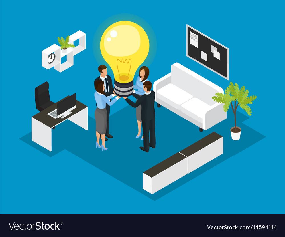 Isometric business partnership concept