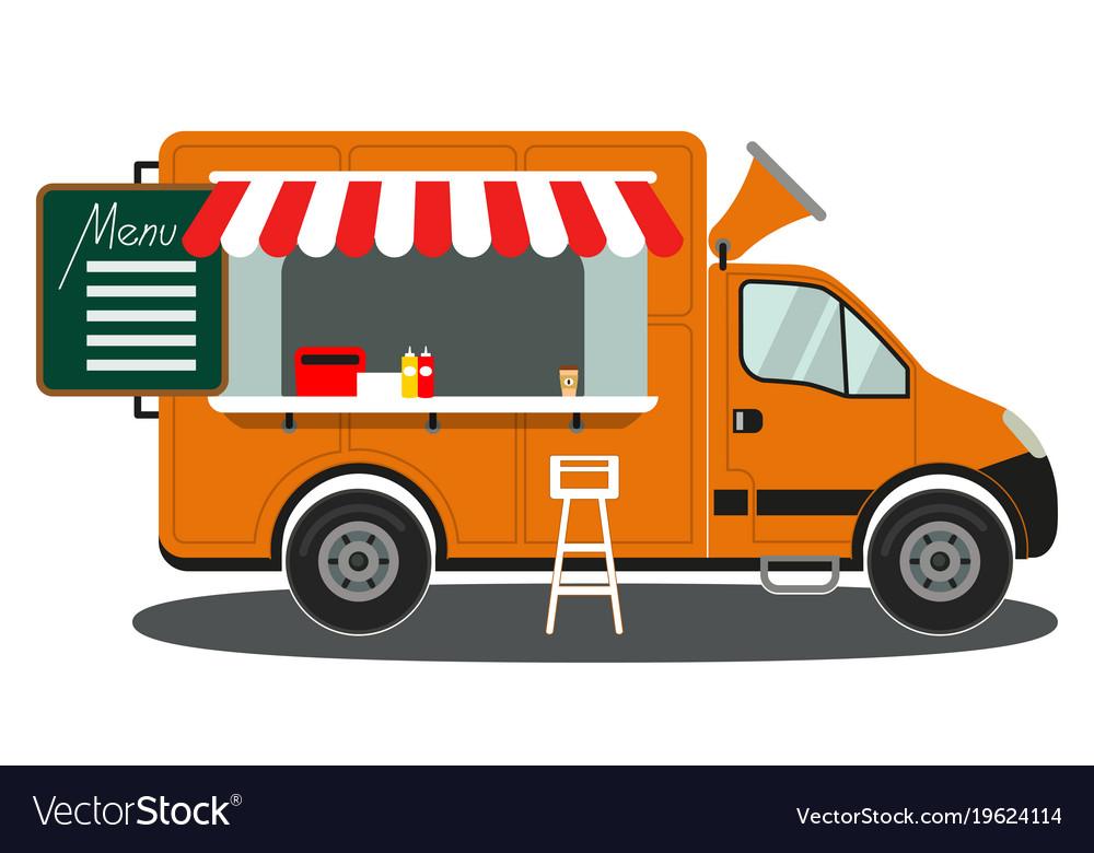 Food Truck Vector Free