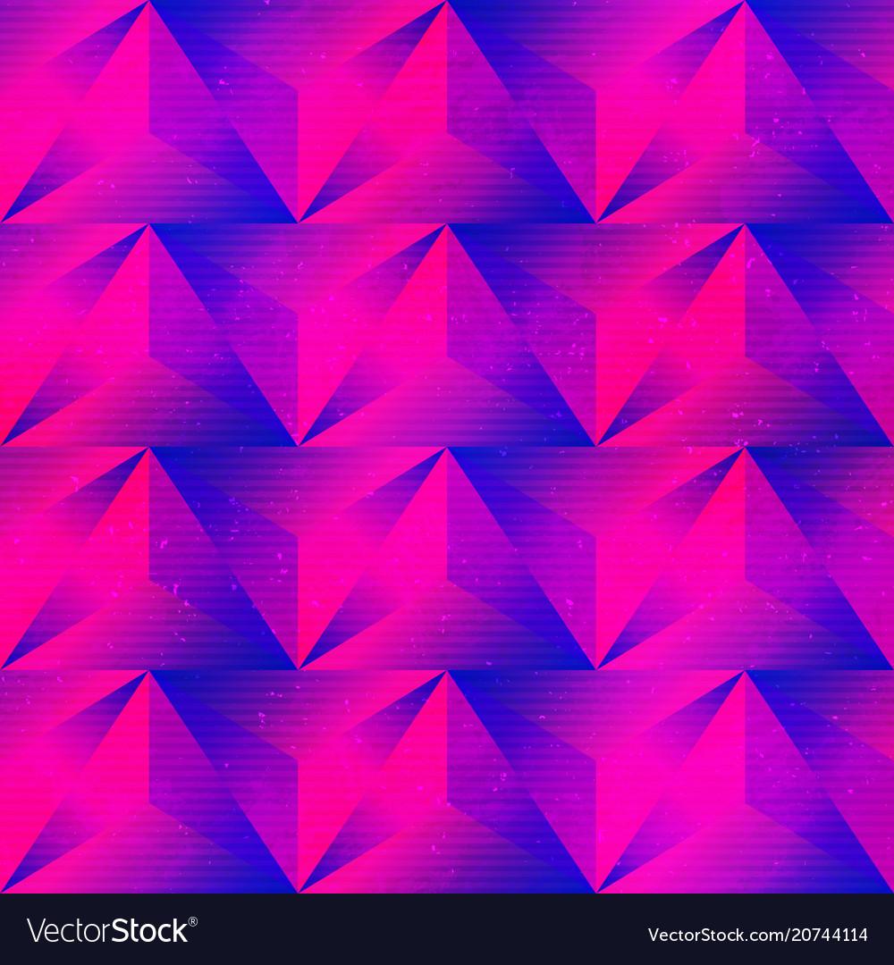 Purple triangle seamless pattern