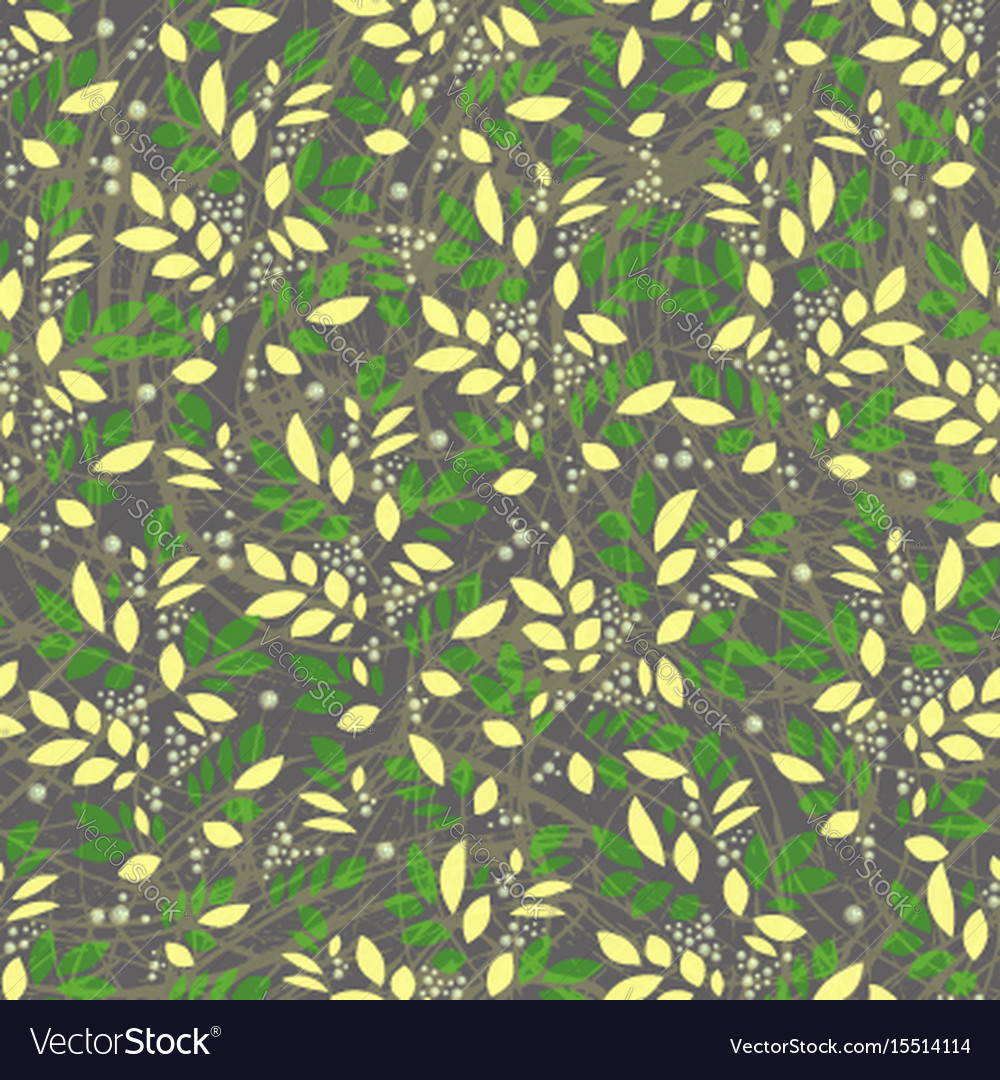 Seamless leaves and floral vintage textured