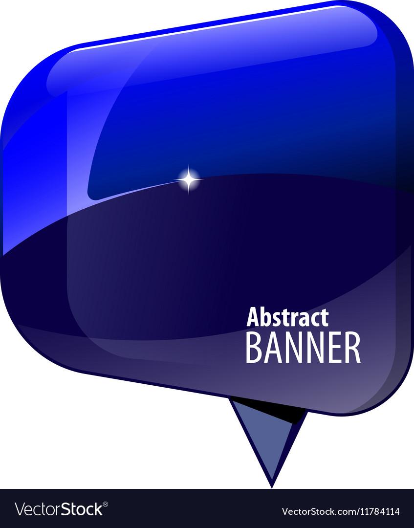Shiny gloss blue 3d banner