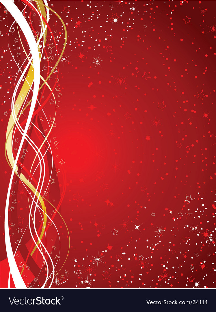 starry christmas background vector image - Starry Christmas