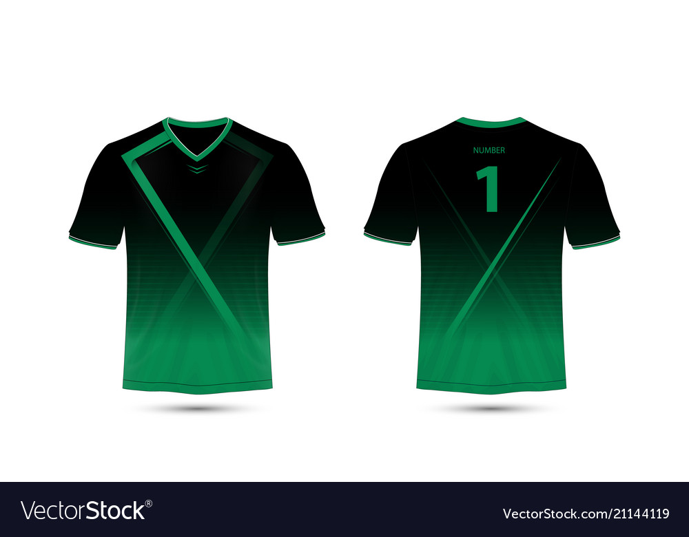 1c818b03902a Black and green layout sport t-shirt design Vector Image