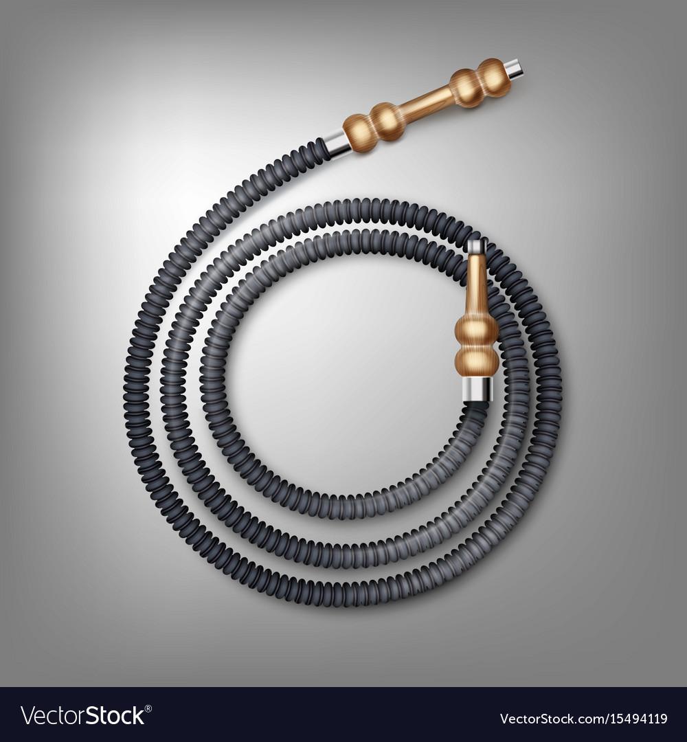 Coiled hookah hose