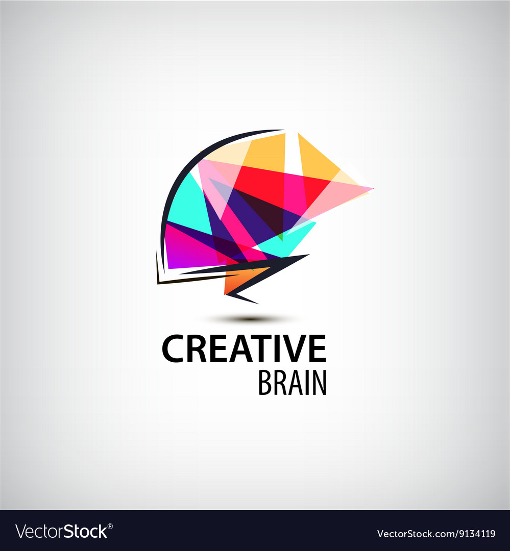 Creative mind logo brain
