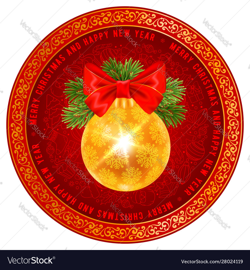 Festive christmas greeting design with golden
