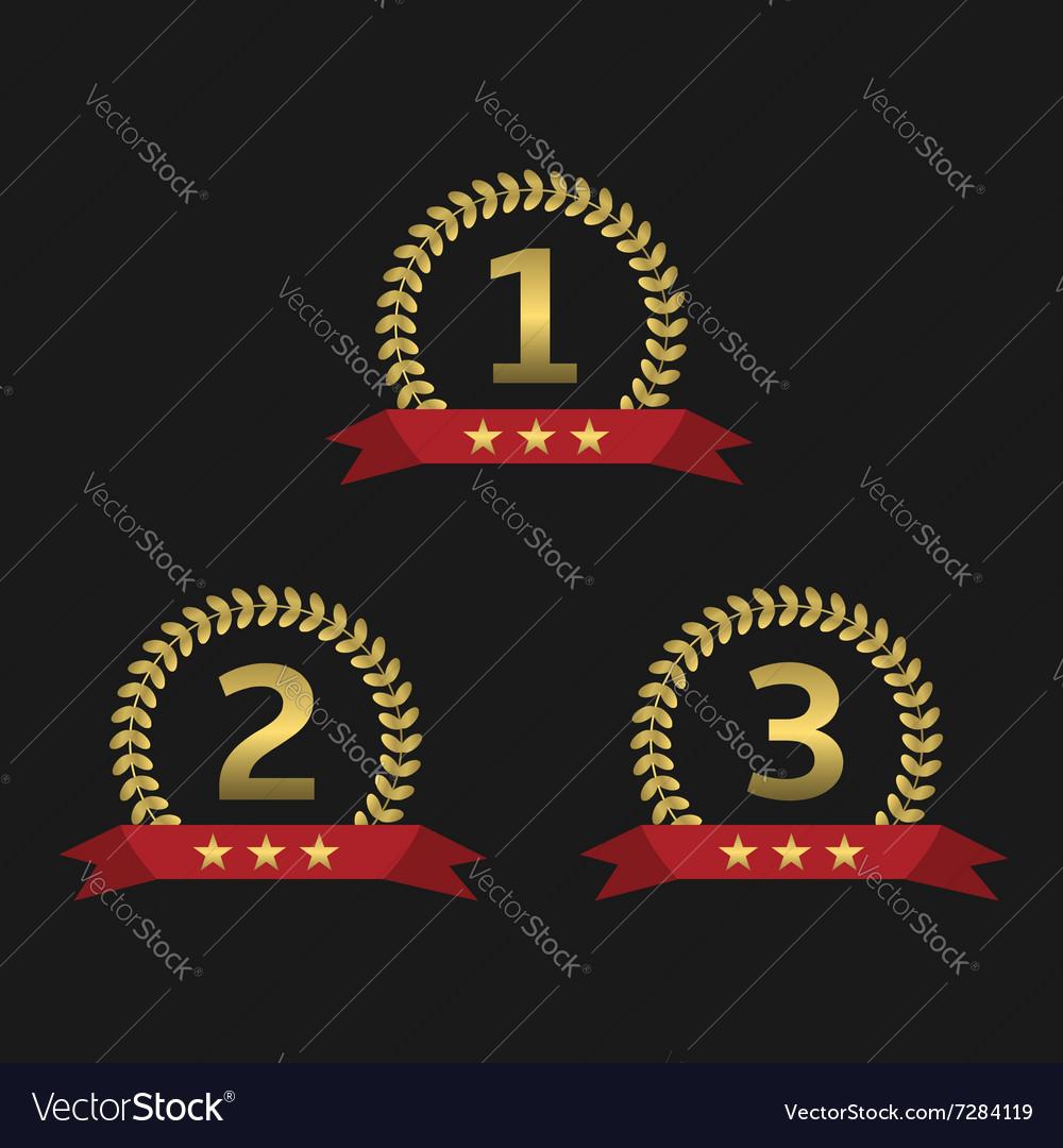 Laurel wreath awards vector image