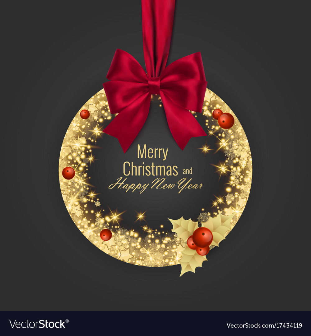Merry christmas and happy new year 2018 greeting vector image m4hsunfo