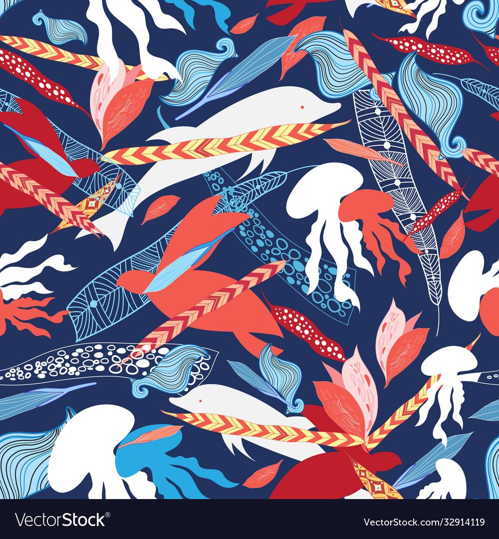 Pattern sea creatures