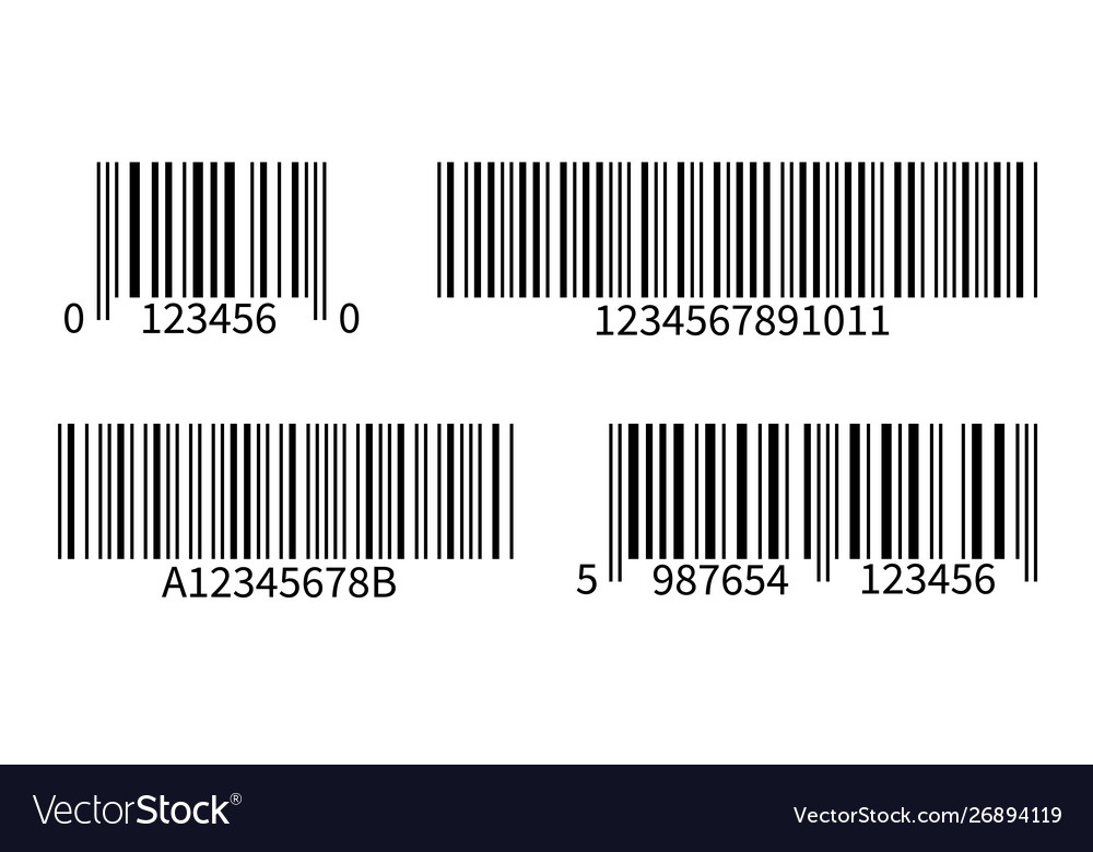 Product code line bar stickers with barcode