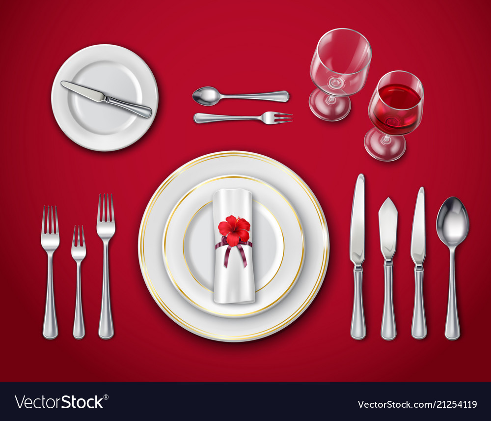 Pleasant Table Place Setting On Red Download Free Architecture Designs Grimeyleaguecom
