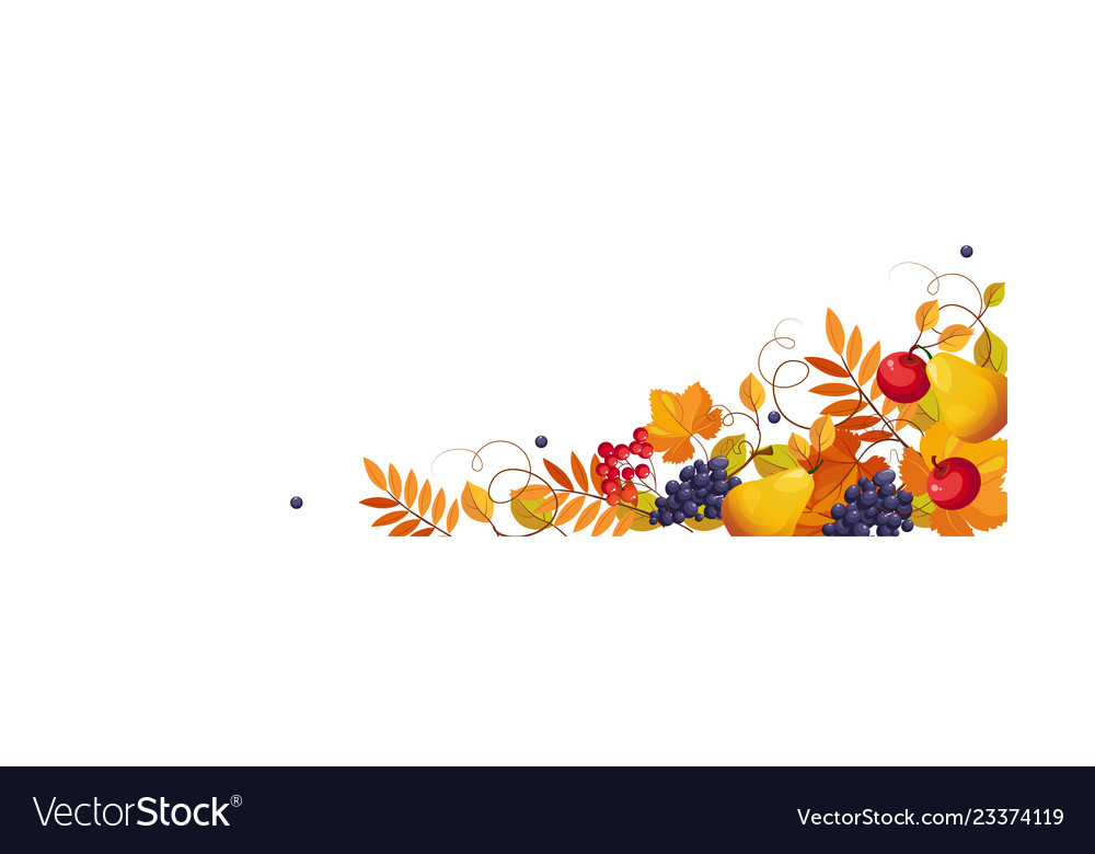 Thanksgiving banner with space for text bright