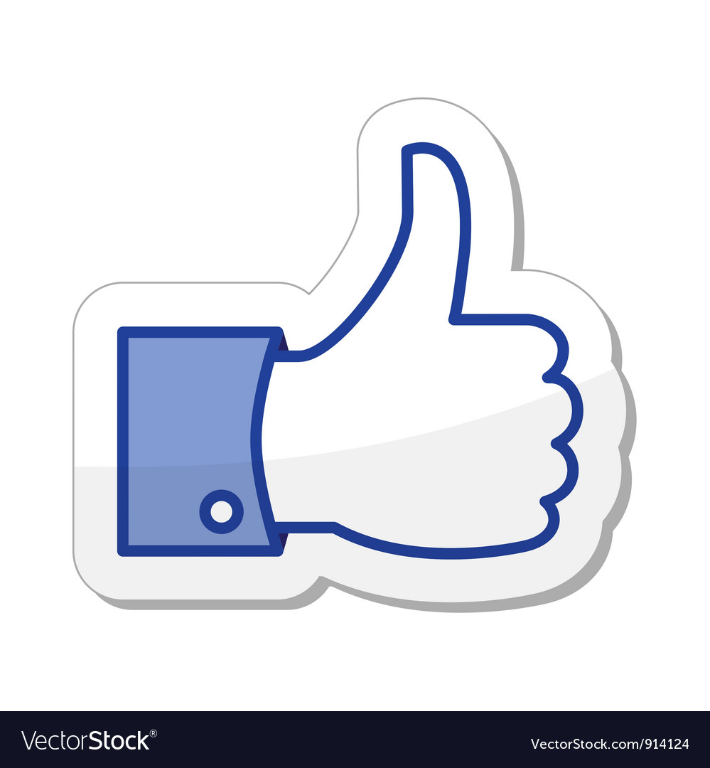 Facebook like it - thumb up vector