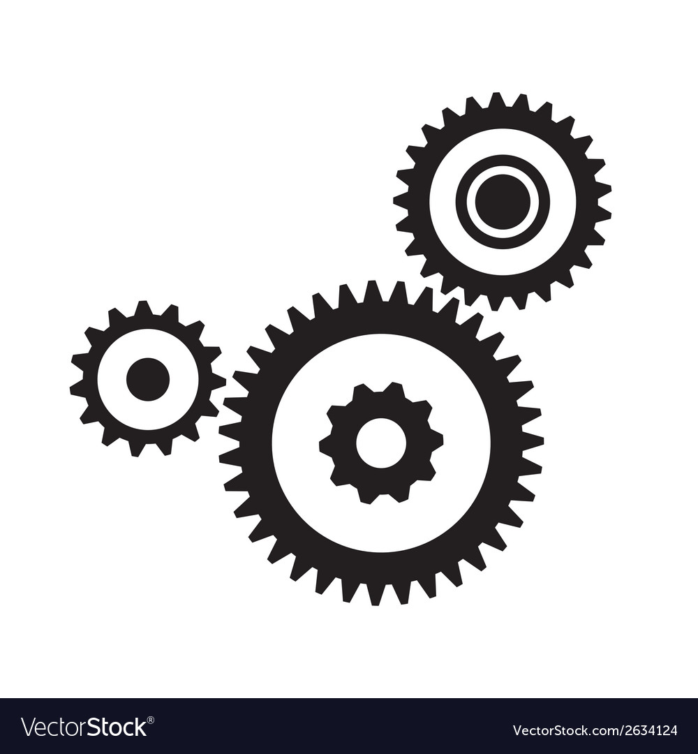 gears and cogs royalty free vector image vectorstock