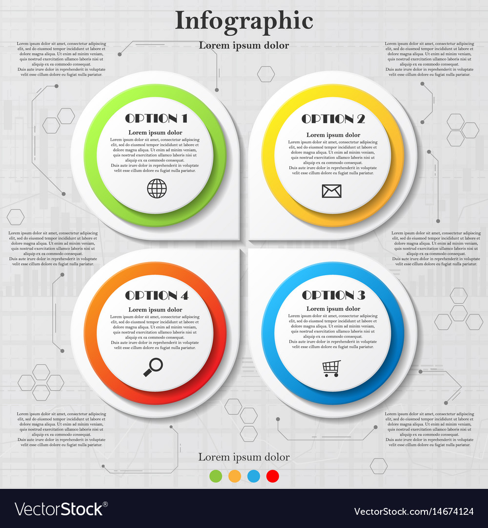 Infographic with four options vector image