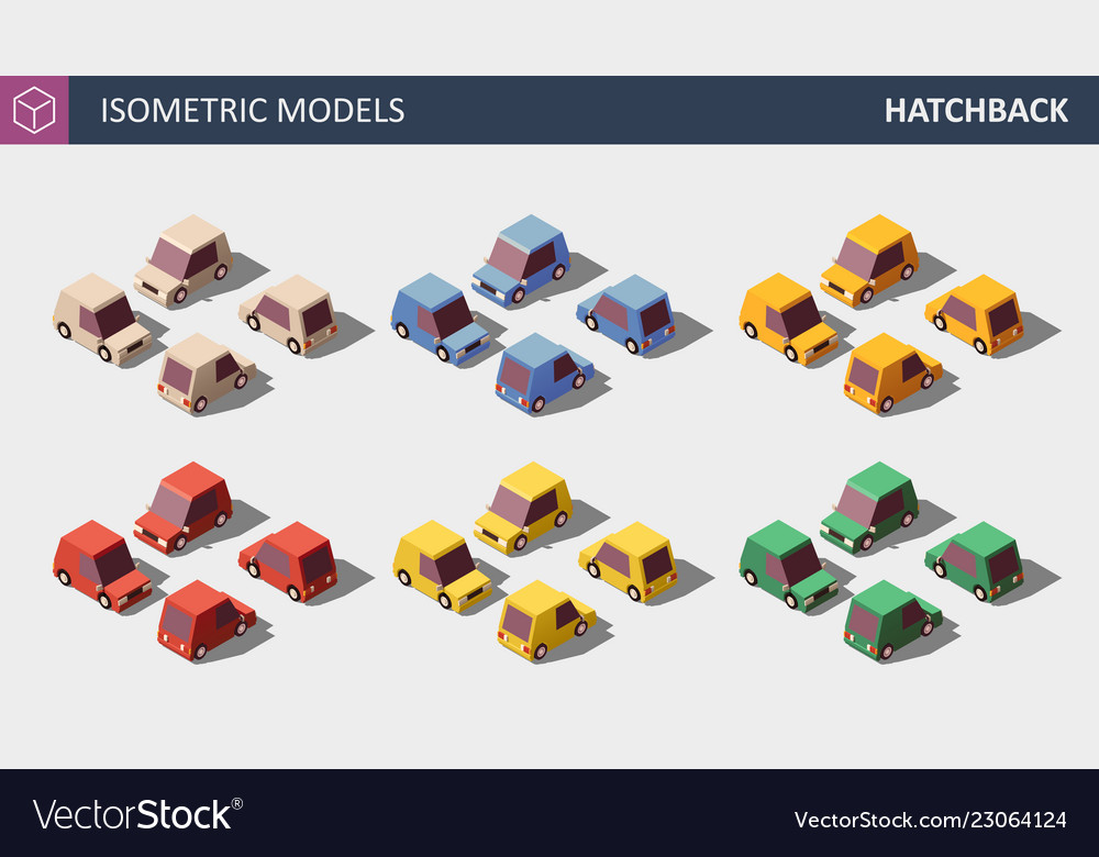 Personal cars set in six colors