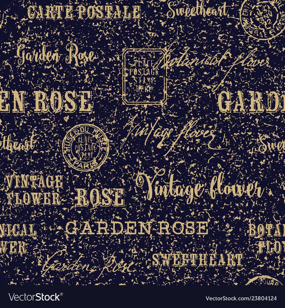 Postal seamless background