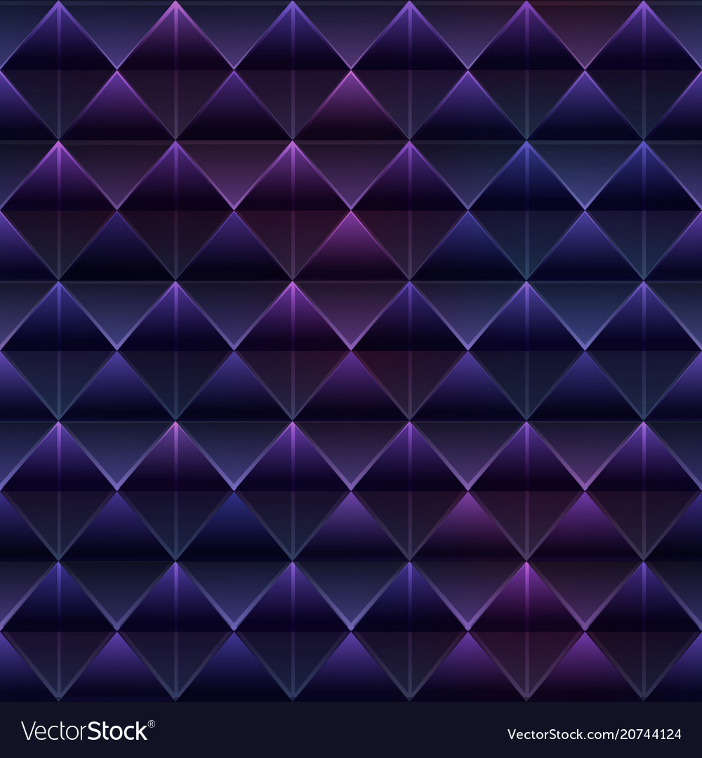 Purple triangle seamless pattern