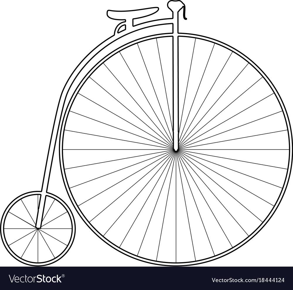 Retro bicycle black icon
