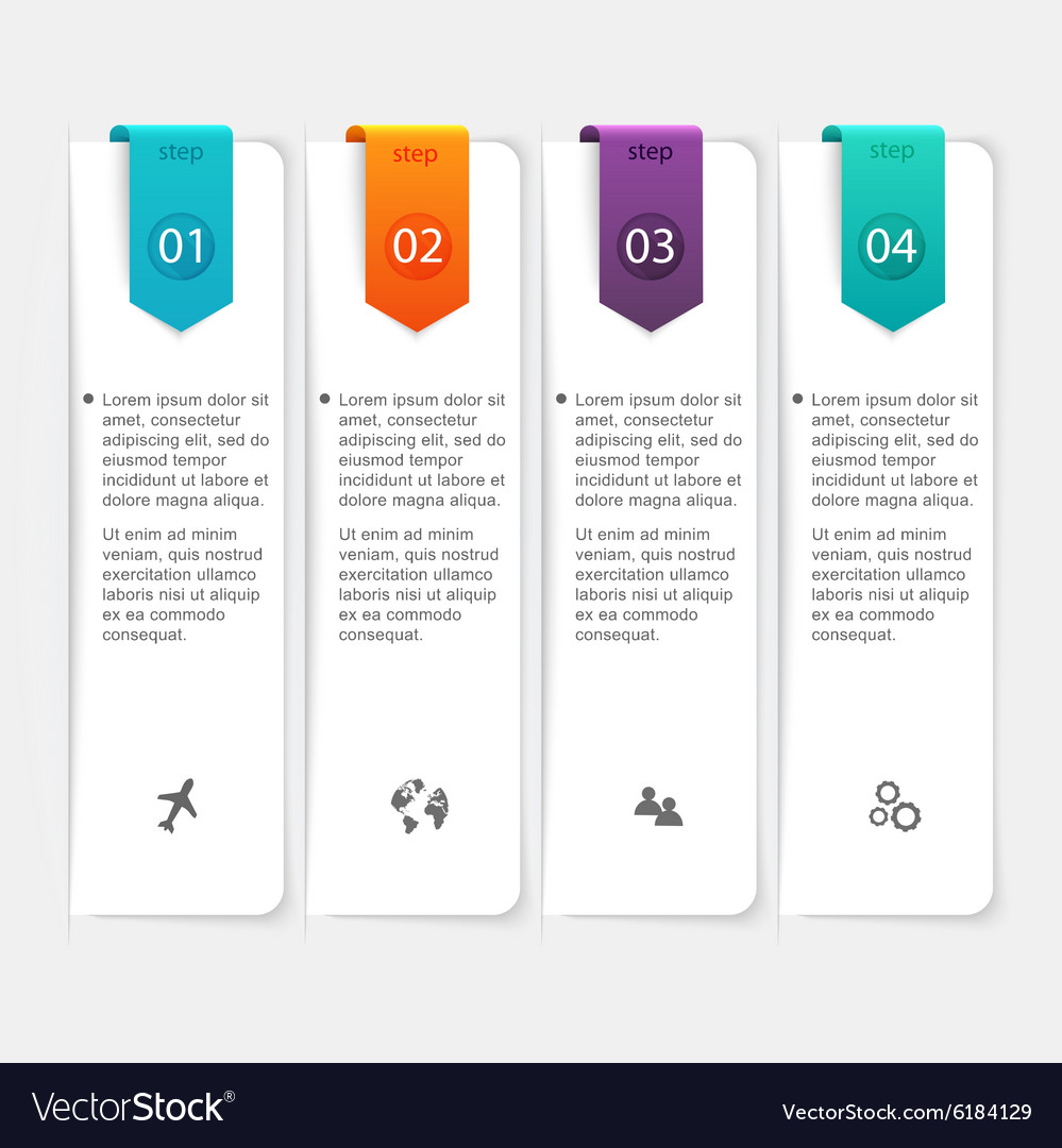Abstract 3D digital Infographic can be used for vector image